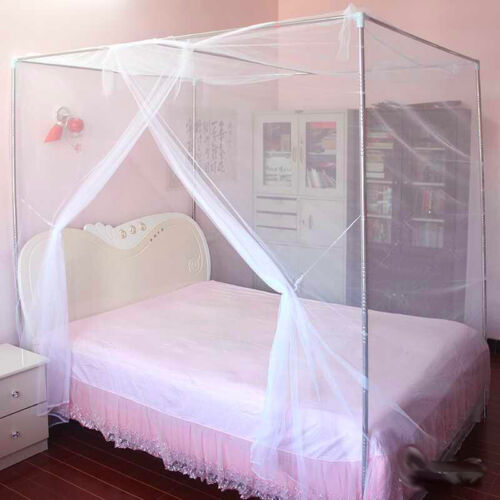 4 Corner Canopy Mosquito Net Queen King Twin Size Netting Tr