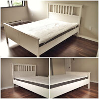 Bed + Mattress [less than 1-year-old (no scratches)]