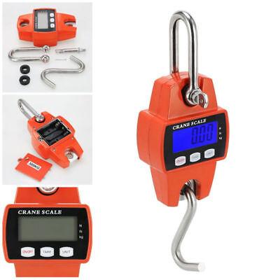 300kg660lbs Mini Crane Scale Industrial Hook Hanging Weight Digital Lcd Display