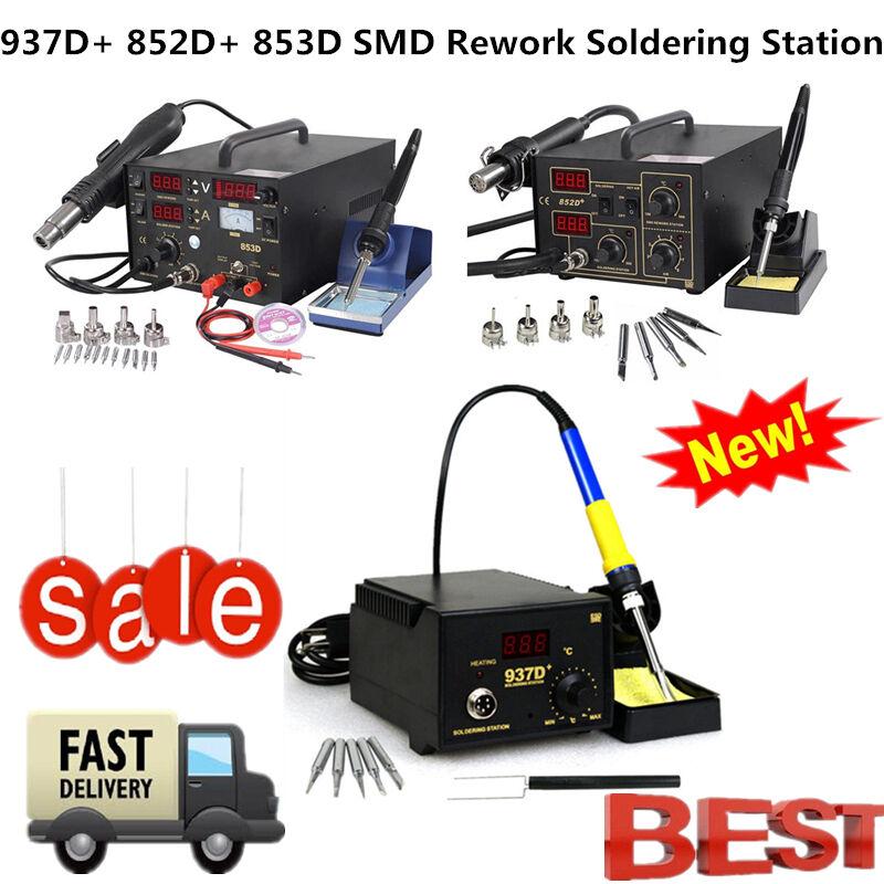 853D 852D+ 937D+ Soldering Rework Soldering Station Solder Iron SMD Hot Air Gun