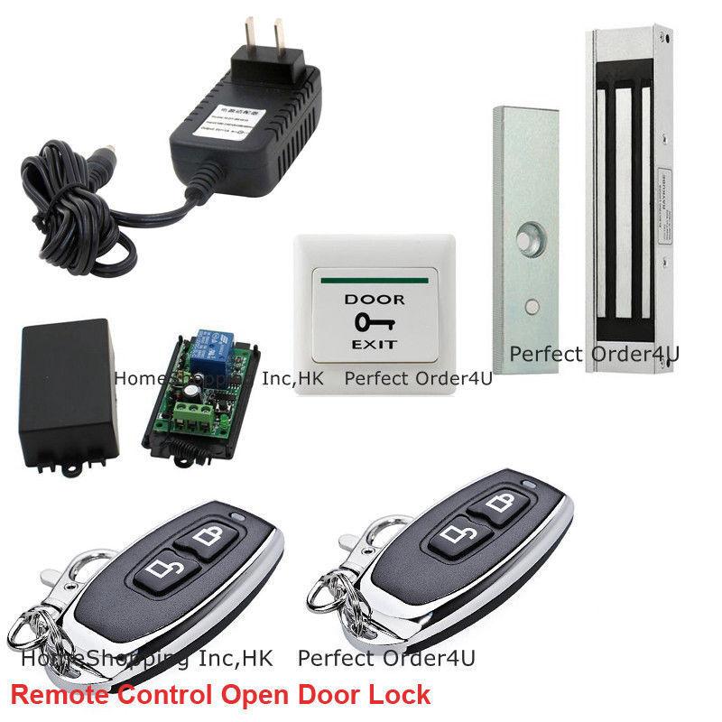 Door Access Control System + 400lbs Door Magnetic Lock+ Wireless Receiver&Remote