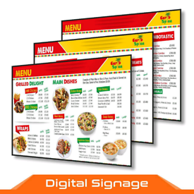 DIGITAL SIGNAGE SCREEN-MENU BOARD