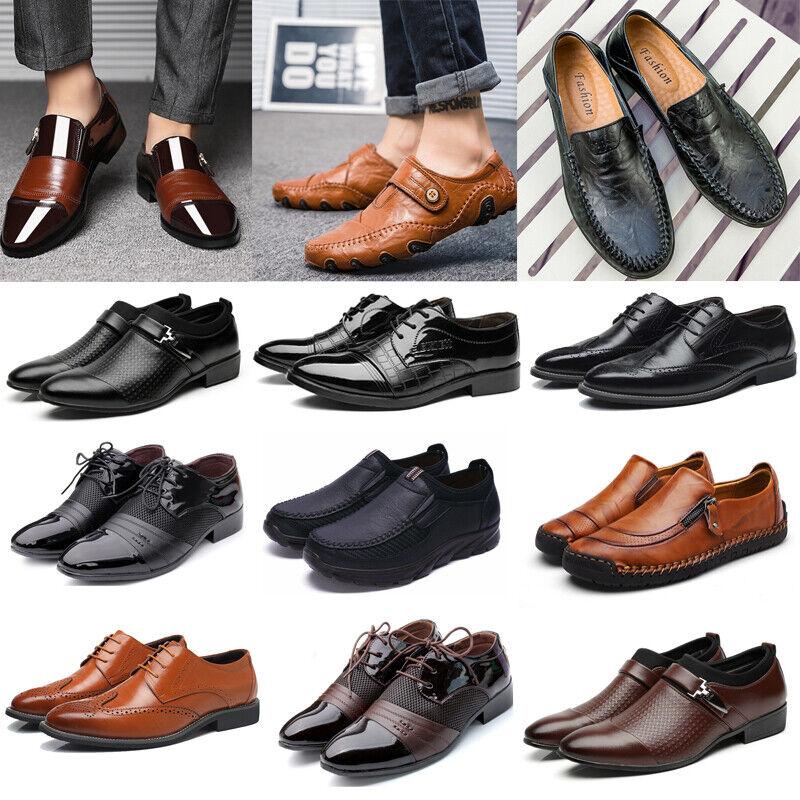 Herren Business Loafers Halbschuhe Schnürschuhe Slipper Mokassins Müßiggänger 48