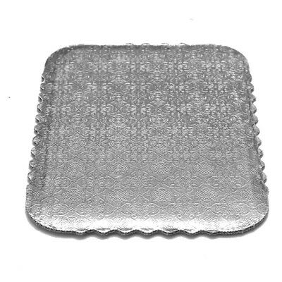 Rectangular Silver Scalloped Cake Boards, Single-Wall