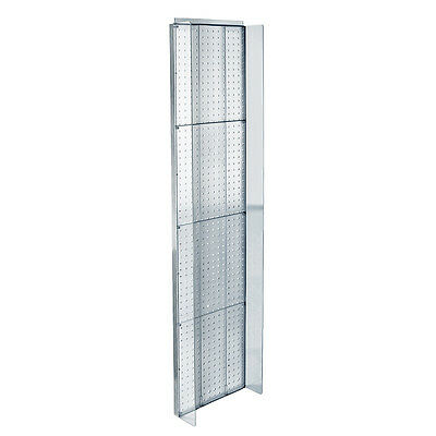 New Clear Plastic Pegboard Powerwing Display 14w X 60high