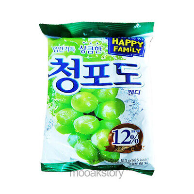 [Lotte] ChungPodo Green Grape Candy Aromatic Sweet Korean Food Snack 153 g