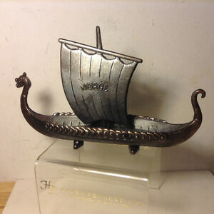 Vintage Collectable NORGE Norwegian Viking Ship