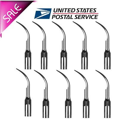 10 Dental Ultrasonic Scaler Perio Scaling Tips Gd1 Fit Satelecdte Handpiece Top