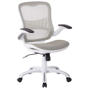 Work Smart Riley Mesh Office Chair - White
