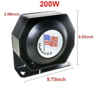 New Siren Speaker Brand New. 200 Watt Power Rated For Any Siren Or P.a. Amp