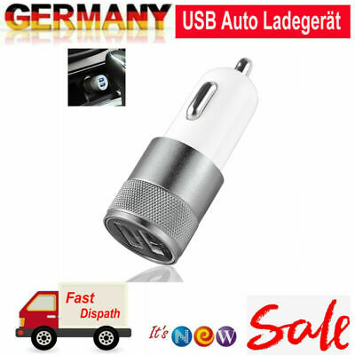Mini 2.1A Dual 2 Port USB Auto Ladegerät Adapter für Smart Mobile Cellphones ()