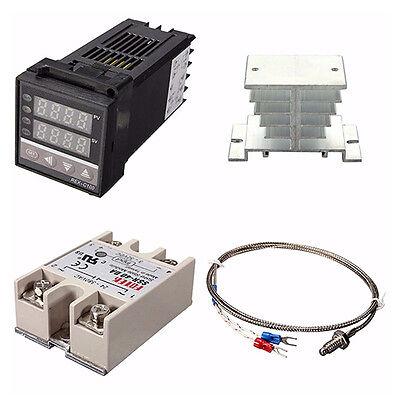 Digital 220v Pid Rex-c100 Temperature Controller Max.40a Ssr W1l3