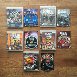 Playstation 3 - Guitar Hero et Rock Band