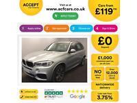 BMW X5 SILVER 30D XDRIVE MSPORT 7 SEAT STATIONWAGON DIESEL FROM £119 PER WEEK!