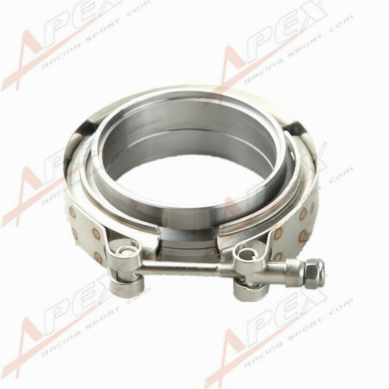 3 I.D. Mild Steel Universal 1 Piece V-band Clamp and 2 Pieces Flanges Kit