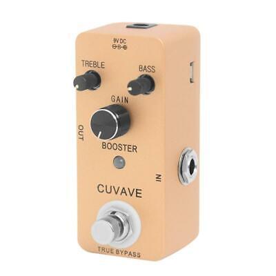 CUVAVE Pure Booster Guitar Effect Pedal 2-Band EQ 2 Modes Pu