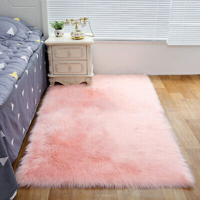 Super Soft Plush Area Rugs Fluffy Living Room Carpet Floor Comfy Kid Playing Mat