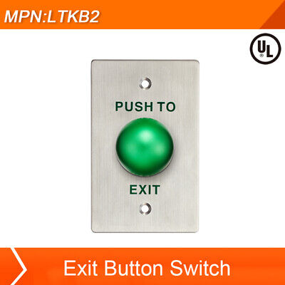 Exit Button Switch Push To Exit For Home Office Door Access Control Green Button
