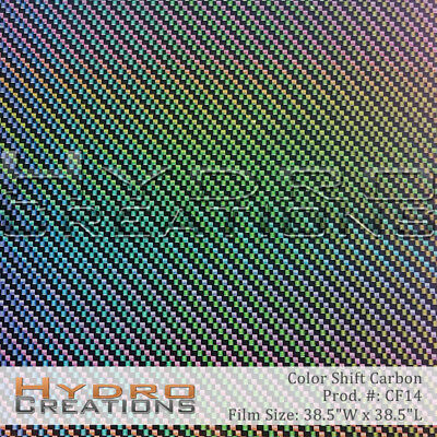 Hydrographic Film Hydro Dipping Water Transfer Film Color Shift Carbon