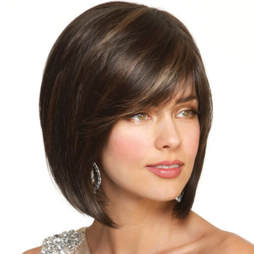 New Women's Natural BOB Short Straight Lace Front Wigs Full Lace Human Hair Wigs