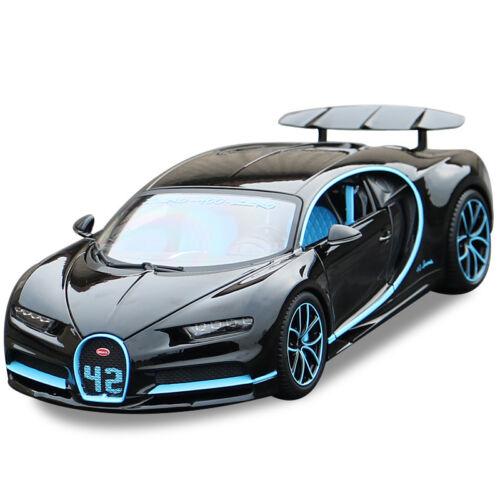 Bburago 1:18 Bugatti Chiron Diecast Alloy Model Roadster Car New in Box Blue