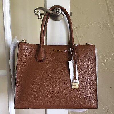 Michael Kors Mercer Large Leather Convertible Tote Luggage