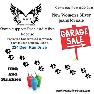 Free and Alive Rescue HUGE Garage Sale