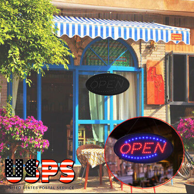 19x10bright Animated Led Open Store Shop Business Sign Neon Display Lights Usa