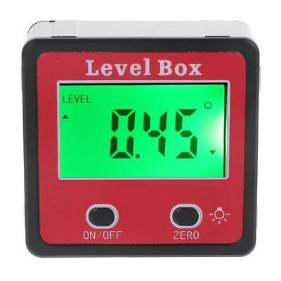 Digital Inclinometer Spirit Level Protractor Angle Gauge Meter Bevel Level Box