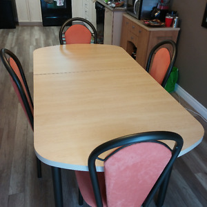 Dining Table and 4 Chairs - excellent condition