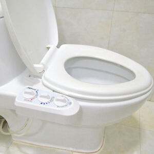 HOT WATER NON-ELECTRIC ADJUSTABLE ANGLE BIDET TOILET