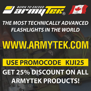 Get 25% discount on All Armytek products!