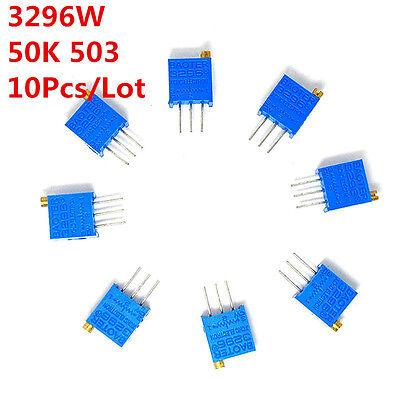 10pcs 3296w 50k Ohm 503 Trim Pot Trimmer Potentiometer High Precision 3296