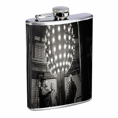 Vintage New Years Eve D8 Flask 8oz Stainless Steel Hip Drinking Whiskey - New Years Eve Drinks
