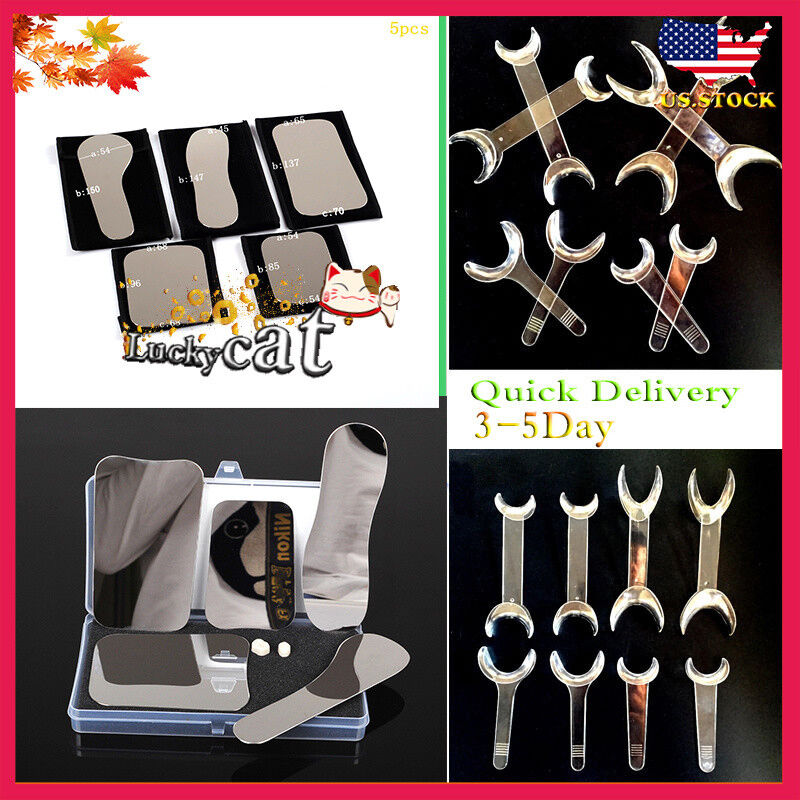 5P Dental Orthodontic Intraoral Photography Mirrors+8*Retractor Mouth Lip Opener