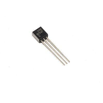 10pcs Bc547 Dip To-92 Transistor 0.1a 100ma 45v Npn