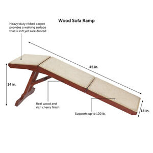PetSafe Solvit Wood Sofa Ramp, 45 in. L Wood Pet Ramp Supports C