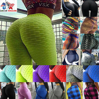 Yoga Pants - Women Ruched Push Up Leggings Yoga Pants Anti Cellulite Sports Scrunch NEW X285