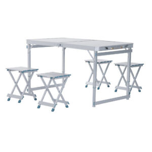 Outdoor Folding Table and Chairs  $60/5 Pieces