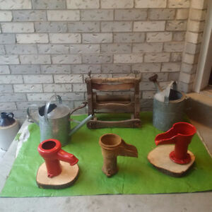 Antique Washer tops,Pump Spouts, Rustic Lanterns*SEE EACH PRICE