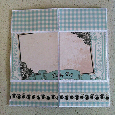 Handmade ENDLESS card Welcome Little One BOY For Your Shower video inside