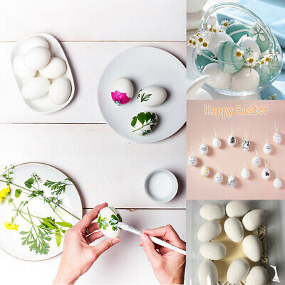 50pc 6*4cm Plastic White DIY Party Decoration Easter Eggs Toys with Hanging Rope](Plastic Eggs With Toys)