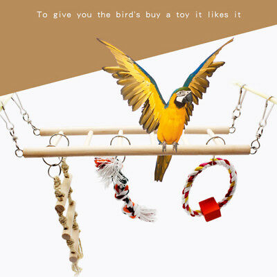 Bird Suspension Bridge Ladder Climb Cockatiel Parakeet Budgie Parrot Pet Toys