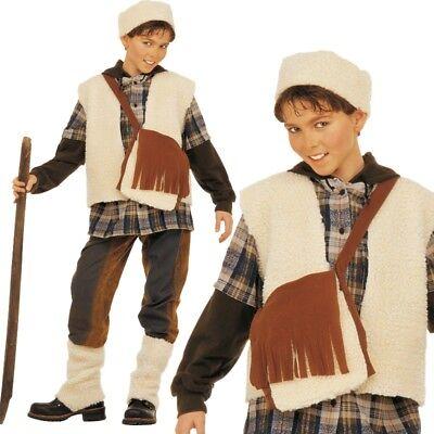 SCHAFHIRTE Kinder Kostüm Gr. 128 - Jungen Karneval Fasching Krippenspiel # 3873 (Jungen Hirten Kostüm)