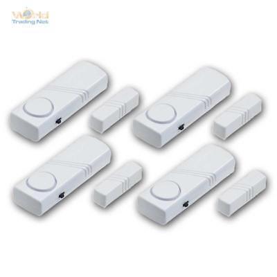Türalarm und Fensteralarm im 4er Set Alarm Sensor Mini Alarmanlage Türen Fenster