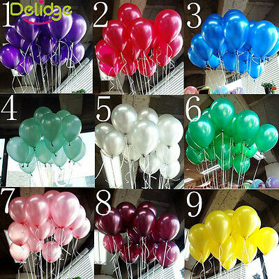 100pcs Latex Helium Ballons Wedding Birthday Party Celebration - Helium Ballons