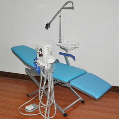 Dental Portable Folding Chair Turbine Unit 3 Way Syringe Water Supply Led Light