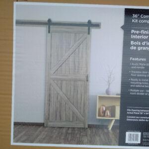"""36"""" TRUporte Barn Door Complete Set W/ Rails"""