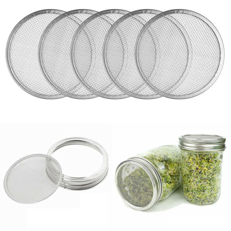 Sprouting Lids 3 X Stainless Mesh Disks Wide Mouth Mason Jar