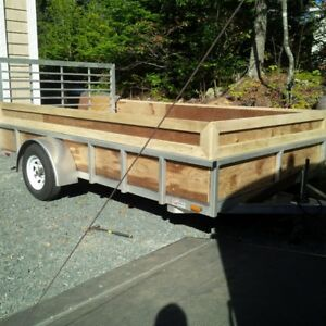 2014 7' x12' HEAVY DUTY ALUMINUM TRAILER WITH RAMP